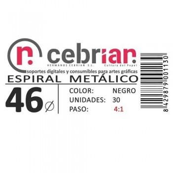 CAJA 30U ESPIRAL METAL NEGRO 46 MM PASO 4:1