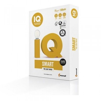 PAQUETE 500 HOJAS IQ SMART A4 75GR