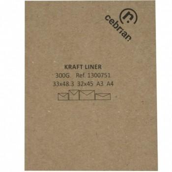 25 KILOS CARTULINA KRAFT LINER 75X105 300G