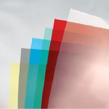 PAQUETE 100 HOJAS PVC TRANSLUCIDO NEGRO (FUMME) A-4 0.18 MICRAS GBC