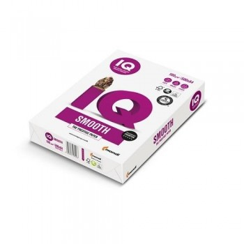 PAQUETE 250 HOJAS IQ SMOOTH A4 160G